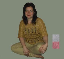 Летний пуловер с коротким рукавом