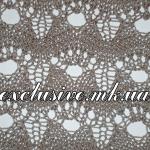 Ажурный волнистый узор с крупными ячейками