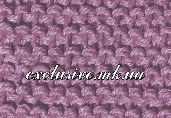 Схема платочной вязки спицами