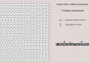 схема тройная шахматка
