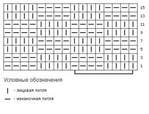 схема узора шахматка 4 х 4