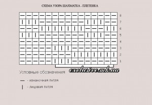 схема узора шахматка плетенка