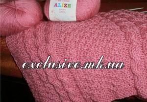Розовый плед для новорожденного