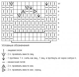 Схема узора колольчик