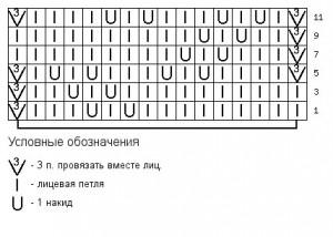 Схема фантазийного узора 7