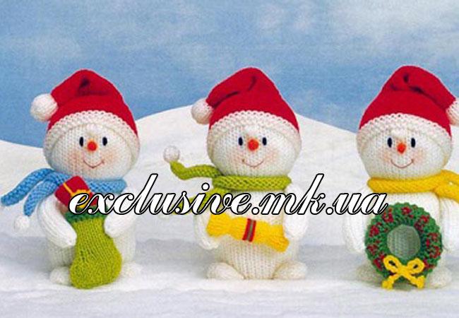 Снеговики спицами