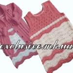 Ажурная туника — сарафан для девочки 2-3 лет