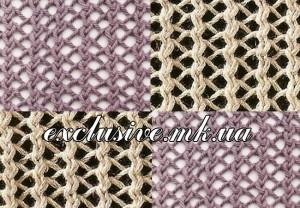 Узор вертикальная плетеная сетка