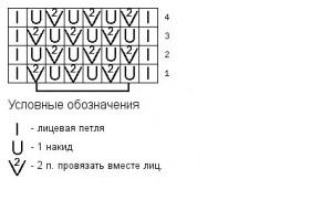 Схема узора вертикальная сетка 2