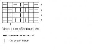 Схема жемчужной резинки