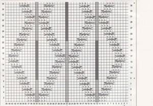 Схема рельефного фантазийного узора