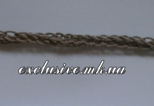 Плоский шнур с петельчатыми краями