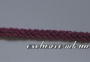 Плоский шнур с узелковыми краями