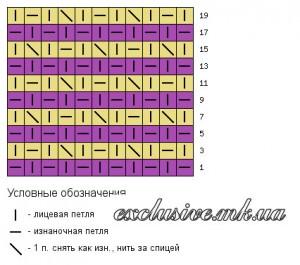 Схема узора брызги