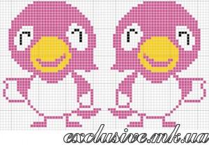 Схема розовые птички