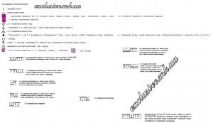 Условные обозначения к схеме БАБОЧКА