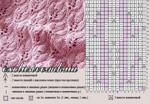 узор рельефные листочки 2
