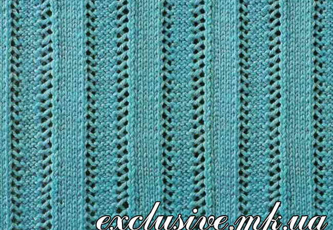простые ажурные схемы вязания спицами