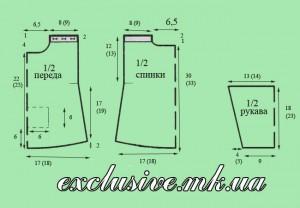 Схема - выкройка свитерок для малышки