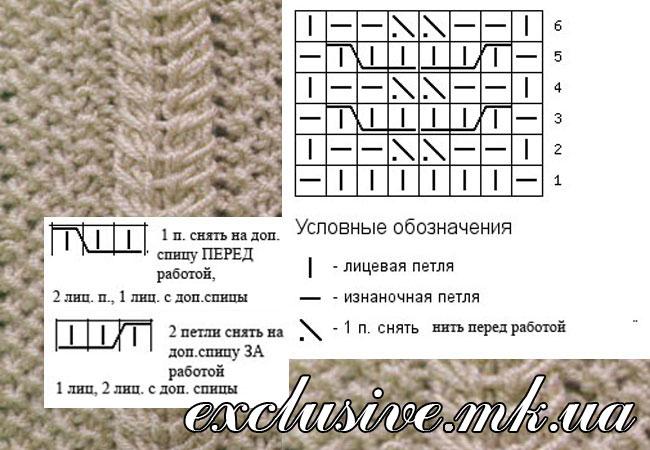 Колосок схема вязания 57