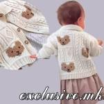 ЖАКЕТ С МИШКАМИ И РЕЛЬЕФНЫМ УЗОРОМ, вяжем спицами для малышей.