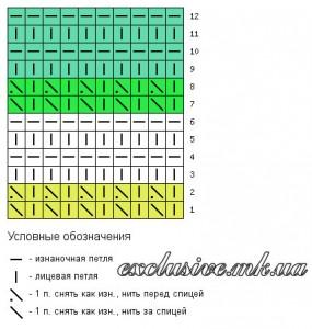 Схема цветного узора