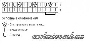 Схема ажурного узора-1