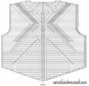 Схема крупного ажурного узора