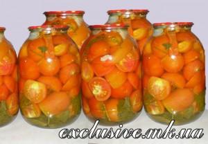 помидоры дольками с желатином