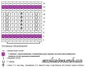 Схема ажурного узора-2