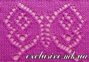 узор ажурные бабочки