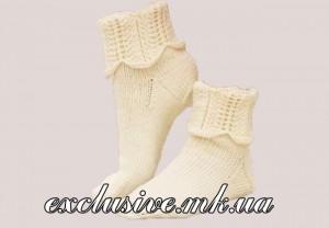 модель1- носочки с волнистыми манжетами