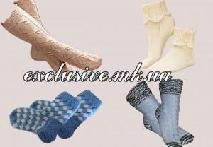 оригинальные носочки спицами