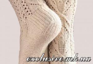 формирование пятки носка