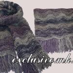 Меланжевый шарф волнистым узором