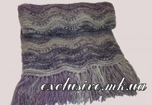 шарф волнистым узором