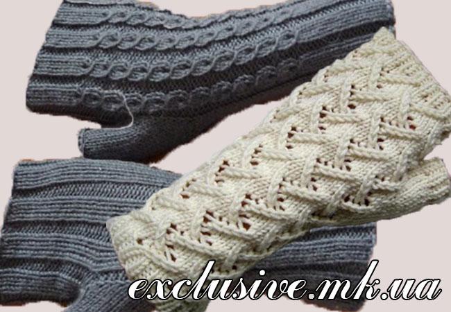 как связать митенки спицами салон эксклюзивного вязания