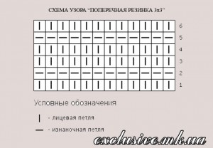 схема поперечной резинки 3 х 3