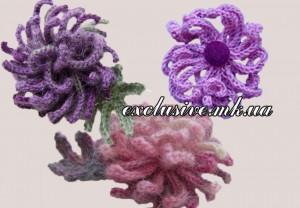 хризантемы спицами