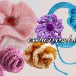 Цветы спицами