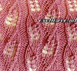 узор дорожки из ажурных листочков