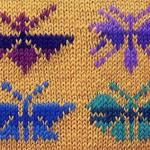 Узор 25 жаккардовые бабочки спицами