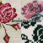 Узор 35 жаккардовые розы спицами