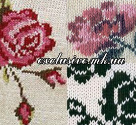 жаккардовы розы спицами