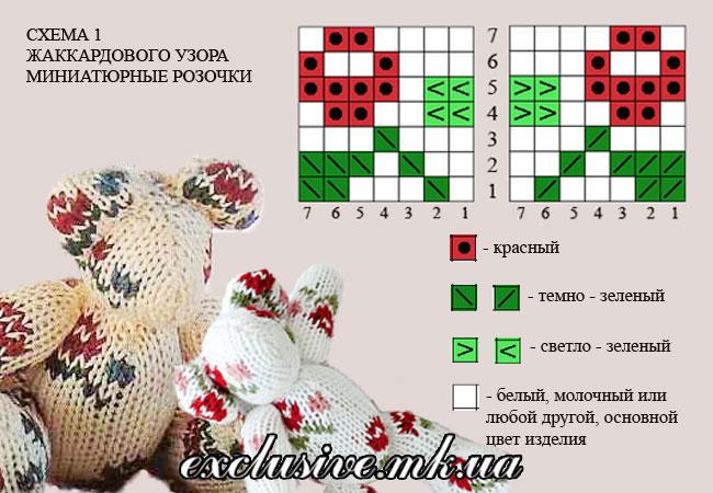 схема 1 -миниатюрные розочки