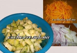 нарезка овощей для икры