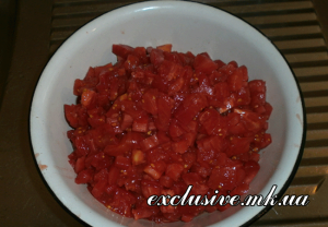 нарезка овощей для соуса