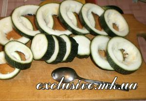 подготовка кабачков