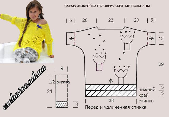sxema-vykrojka-pulovera-zheltye-tyulpany