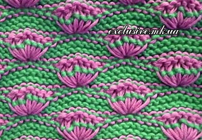 Вязание веерами на спицах